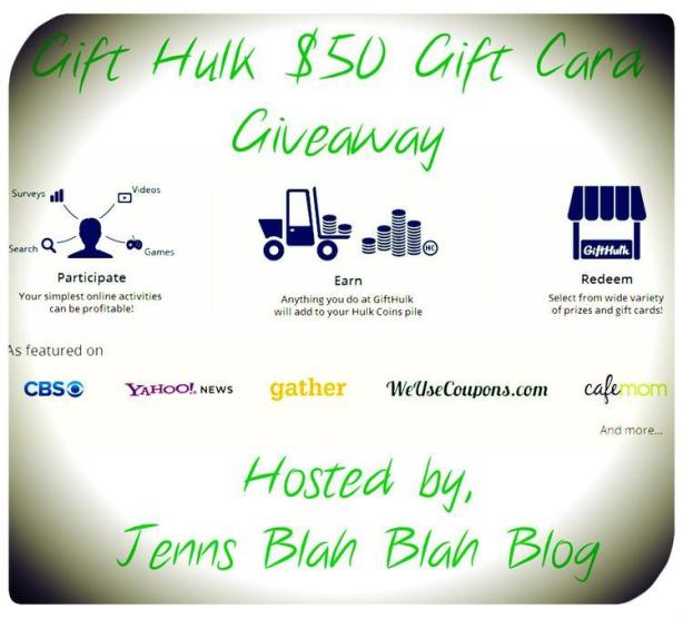 Gift Hulk 50 Giveaway1 1024x925 Enter To #Win $50 Gift Card of Your Choice From Gift Hulk
