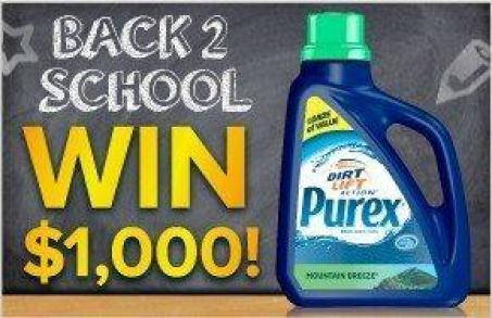 Purex back to school 1000 sweepstakes Dont Miss The Purex $1000 Back To School Sweepstakes!