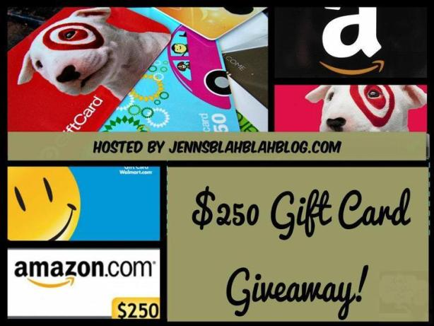 Jenns Blah Blah Blog $250 Gift Card Giveaway #Giveaway: Enter To #Win $250 Gift Card Winners Choice