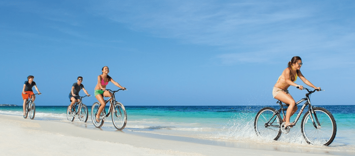 """DREAMS PALM BEACH PUNTA CANA Riding Bikes On The Beach  """"Choose Your Escape"""" Learn How We Can Win A Dream Vacation #ResortEscape DREAMS PALM BEACH PUNTA CANA Riding Bikes On The Beach"""