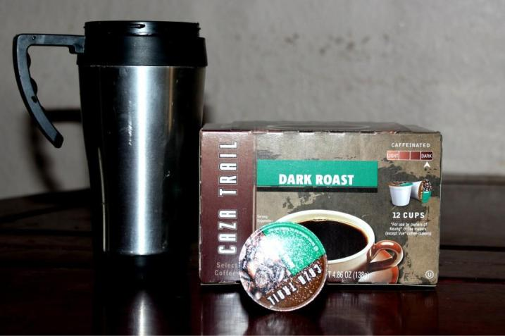 Caza Trail Dark Roast Coffee K-Cups  Cocoa, Coffee, and Cappuccino Single Serve K-Cups - Oh My! Dark Roast Coffee