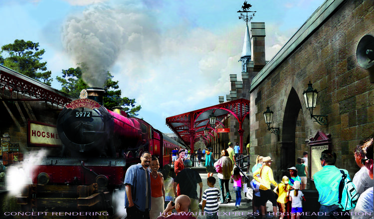 Hogsmeade Station Harry Potter Universal Orlando  Universal Orlando Wizarding World of Harry Potter – Diagon Alley #UniversalOrlando Hogsmeade Station