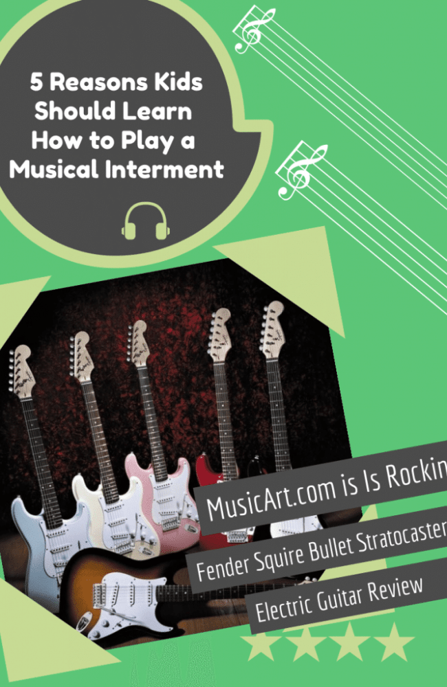 five different colors of electric guitars  5 Reasons To Let Your Child Learn To Play The Electric Guitar!