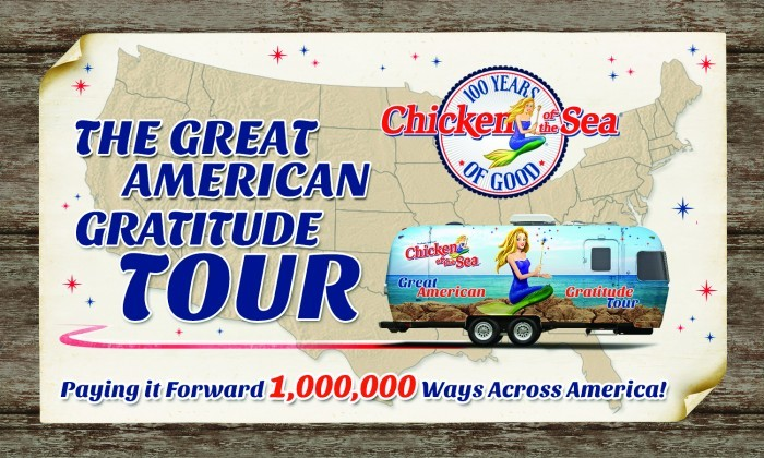 "The great American Tour Chicken of the Sea  Chicken of the Sea Knows How To Celebrate ""100 Years of Good""! #100YearsOfGood The great American Tour Chicken of the Sea"