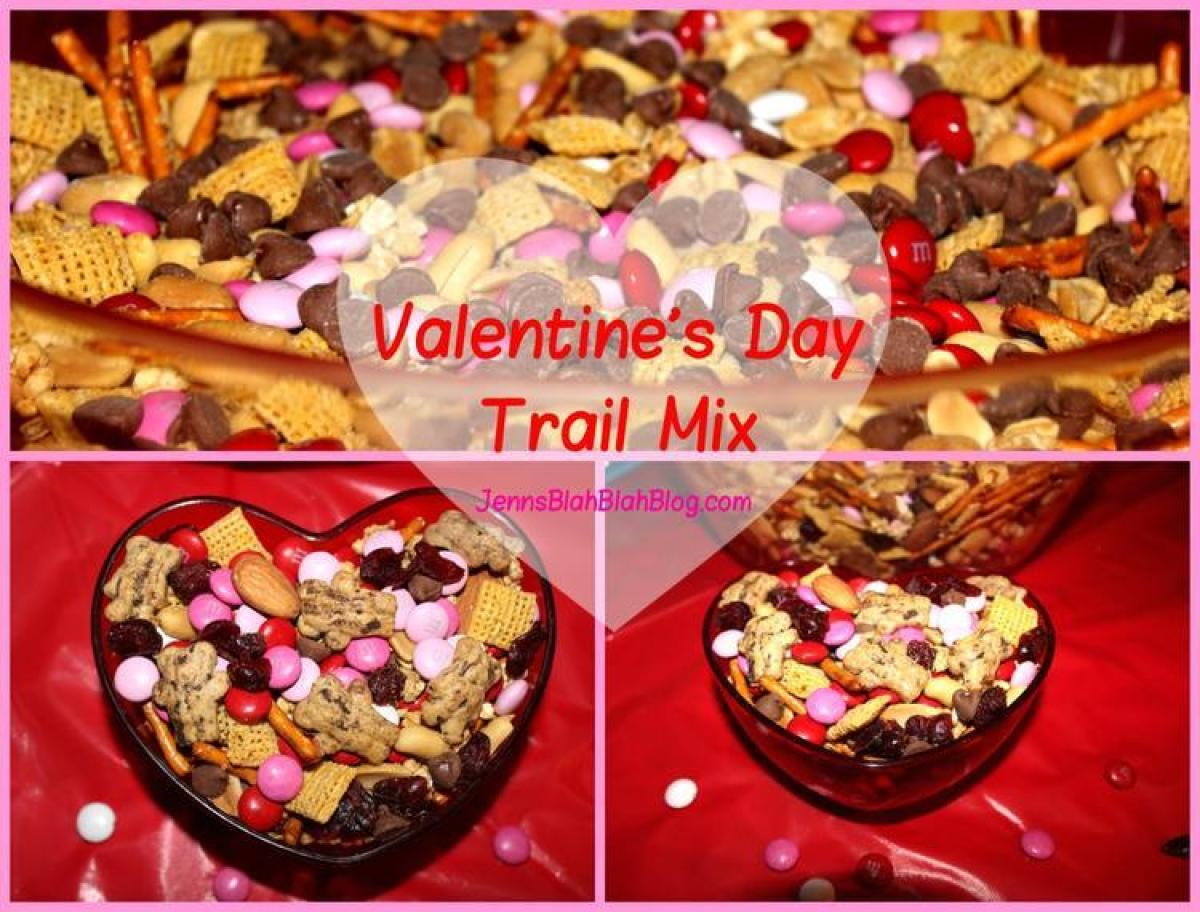 Finished Valentine's Day Trail Mix Looking For Valentine's Day Recipe Ideas Try Valentine's Day Trail Mix