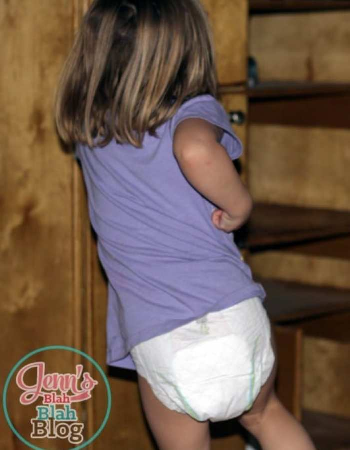 toddler running in her diaper Things I Look For When Choosing Disposable Diapers For My Active Girls