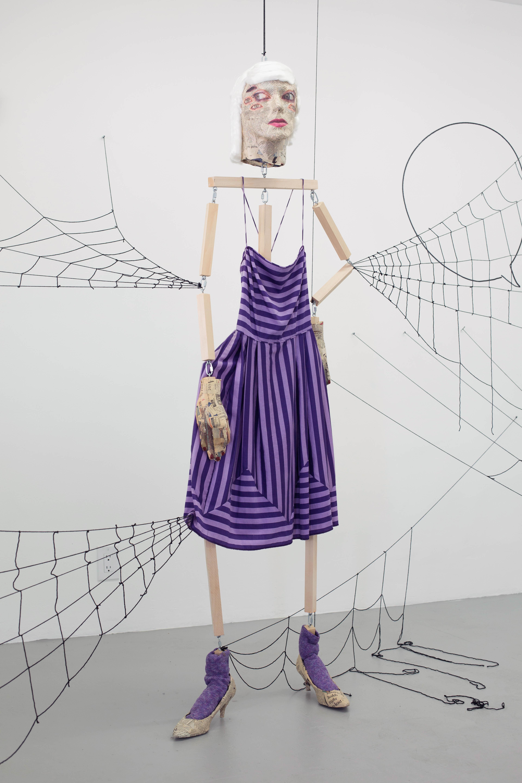 Liz Craft - Spider Woman Purple Dress, 2015, Papier-mâché, mixed media, 5'9