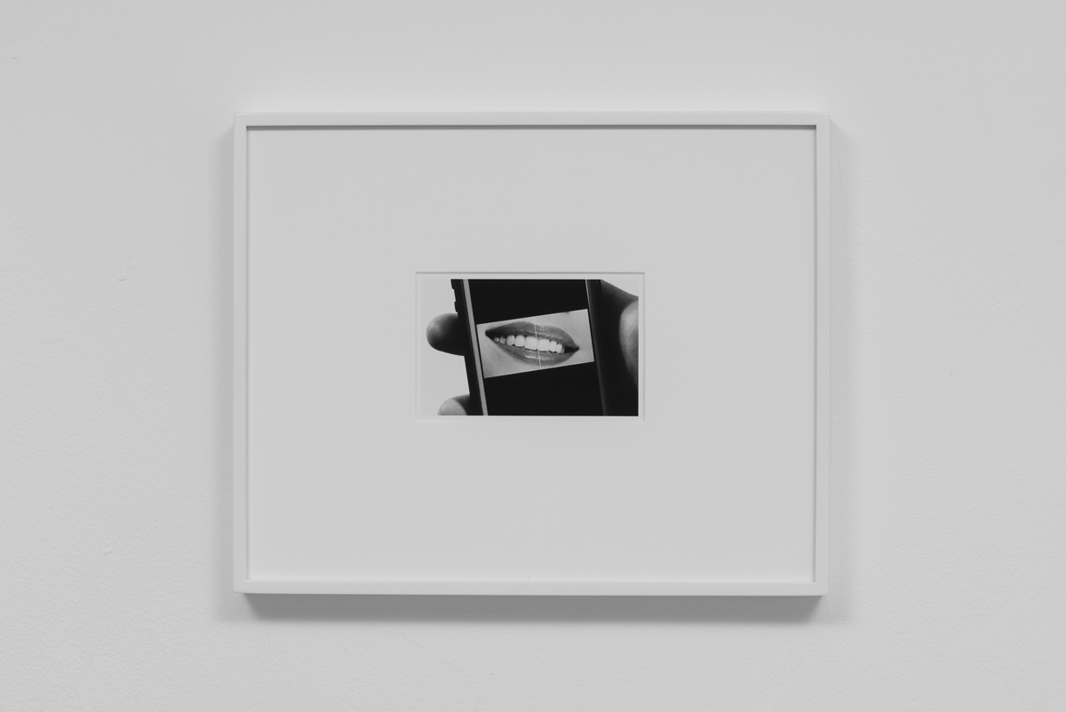 Carter Seddon - Lips, 2015, archival inkjet print, 11 ¾ x 14 ½ inches framed