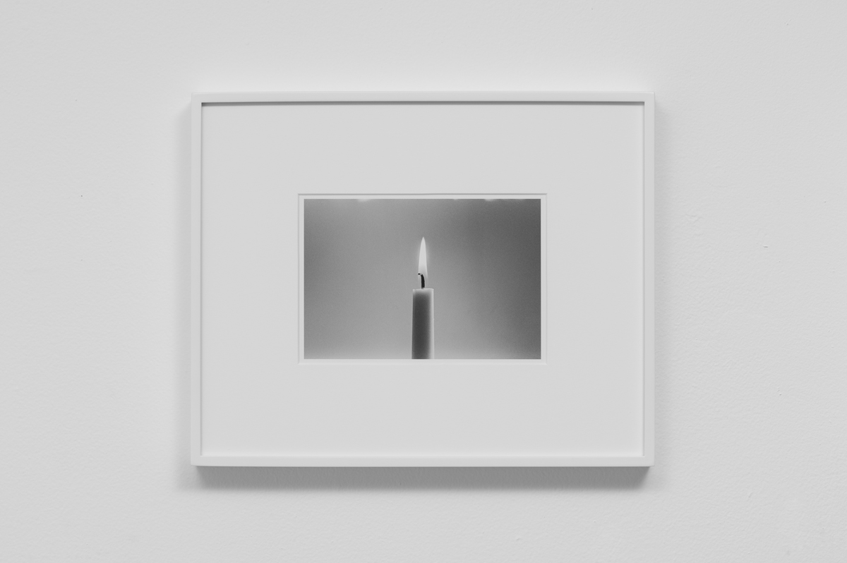 Carter Seddon - Candle 1 , 2015, archival inkjet print, 11 ¾ x 14 ½ inches framed