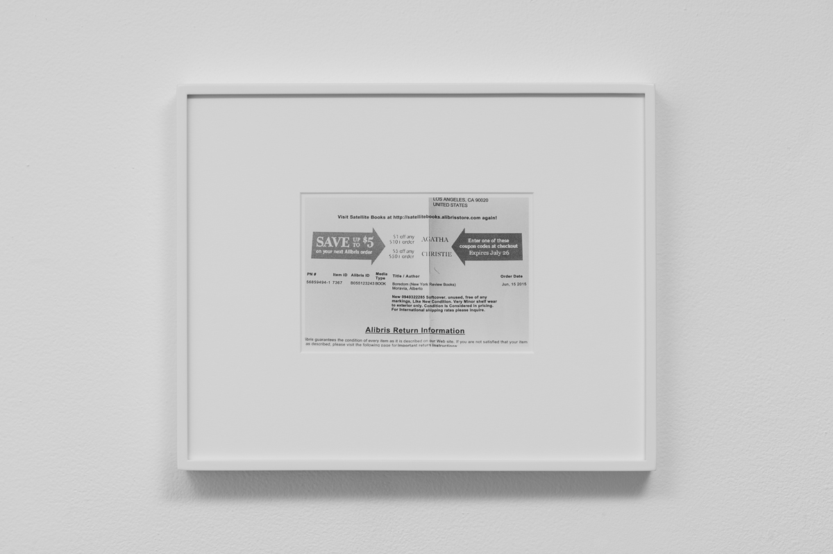 Carter Seddon - Save up to $5 coupon, 2015, archival inkjet print, 11 ¾ x 14 ½ inches framed