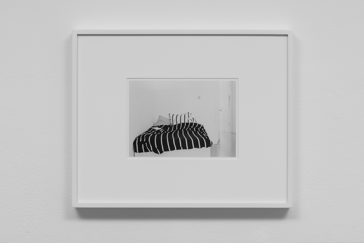 Carter Seddon - Bed, 2015, archival inkjet print, 11 ¾ x 14 ½ inches framed