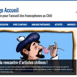 Création site Santiago Accueil