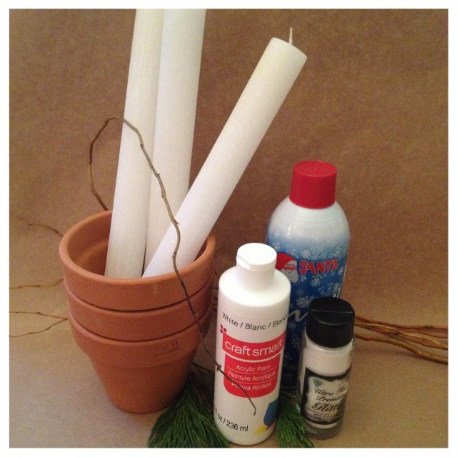 Taper Candle Centerpiece Supplies