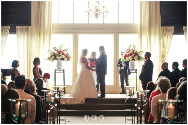 Wedding Ceremony at Lord Hill Farms; photo by JFK Studios | flowers by Jen's Blossoms