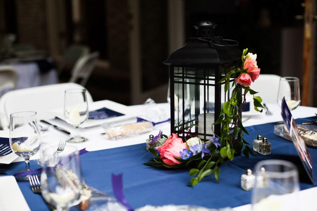 Lantern Centerpiece by Jen's Blossoms || photo by Ciccarelli Photography