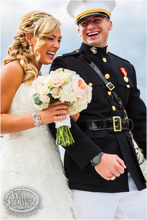 Chambers Bay Military Wedding || Flowers By: Jen's Blossoms || Photo By: WallflowerPhoto