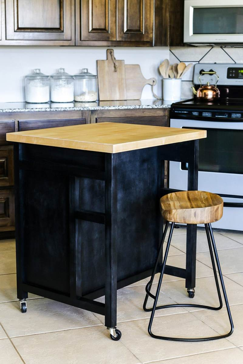 Large Of Diy Kitchen Island With Storage