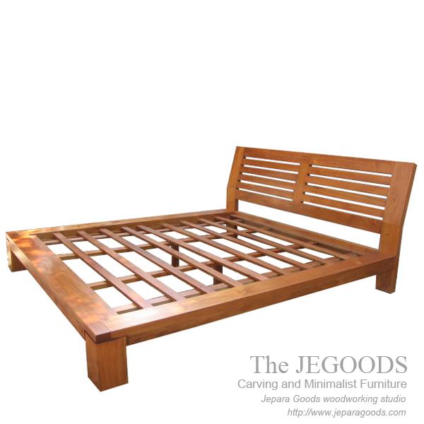 Modern Furniture Jepara borneo bed - teak bed minimalist modern contemporary furniture jepara