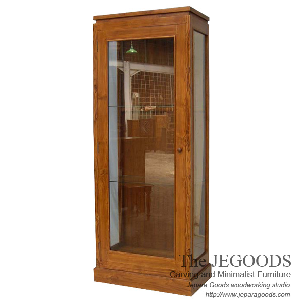 Juara jati minimalist cabinet display teak jepara for Furniture jepara