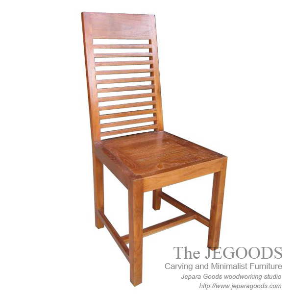 Garisan teak chair simple and durable teak minimalist for Furniture jepara