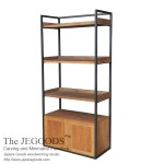 Baki 2 Doors Rustic Rack Industrial