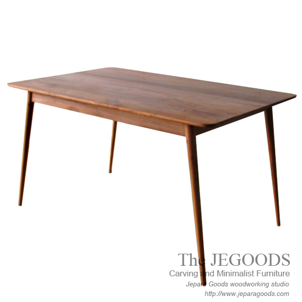Skandinavia lurus dining table model meja makan jati for Furniture jepara