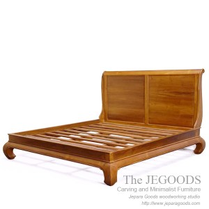 Modern Furniture Jepara tamimi teak bed minimalist - teak bed minimalist contemporary