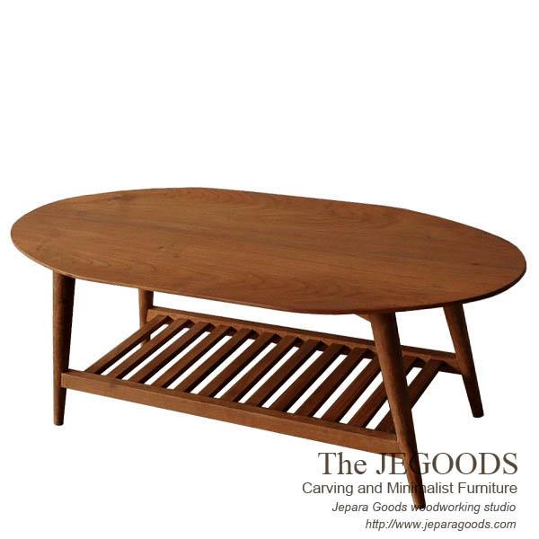Indonesia Teak Coffee Table: » Oval Gambang Retro Coffee Table Teak Scandinavia Vintage