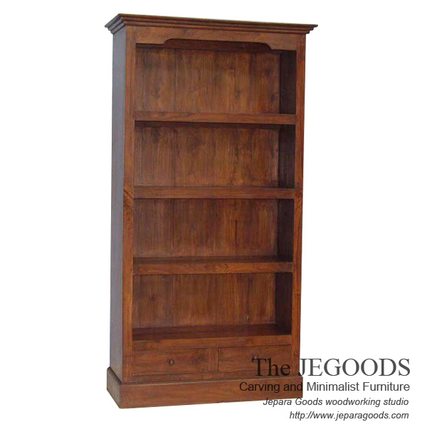 Colonial teak bookshelf classic modern contemporary for Classic contemporary furniture