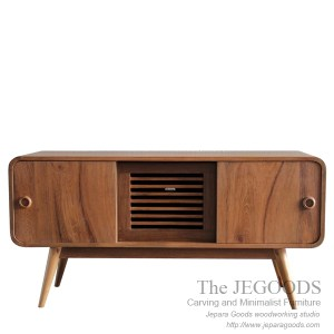 Buffet Radio Style - Vintage Retro Sideboard Teak Furniture Jepara