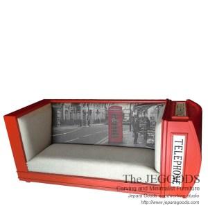 The Red Telephone Sofa Seat