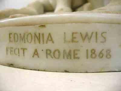 Edmonia Lewis Indian Combat Sculpture Base