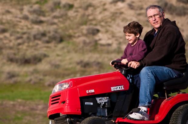 Lawn Tractor Fun With Grandpa