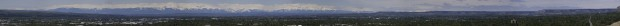 Panoramic of the Beartooth Mountains from Billings Rims