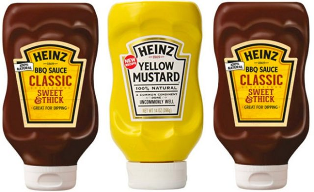 Heinz BBQ Sauce and Mustard