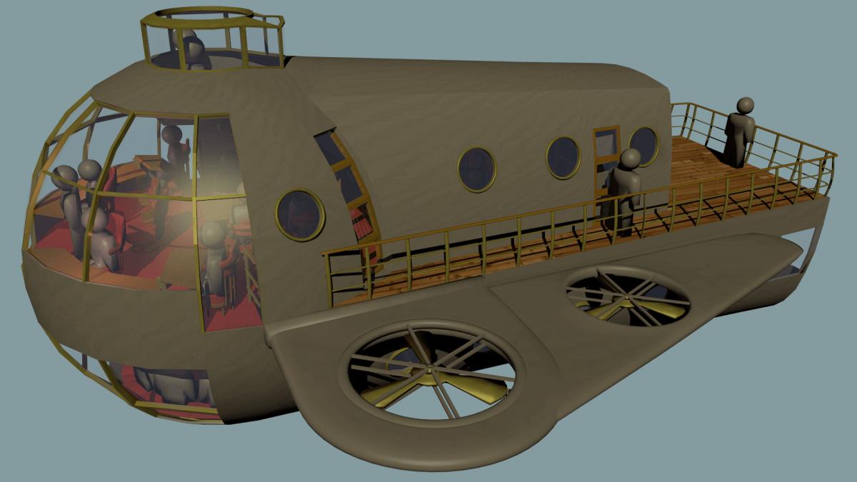 Steampunk Airsloop -- Blender 3D
