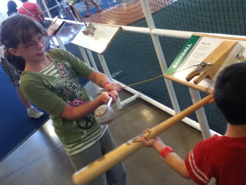 Finding the sweet spot of a bat.