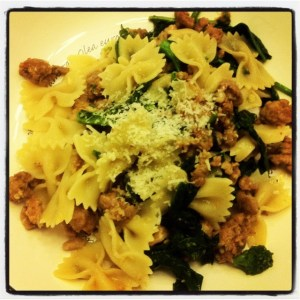 Bowties with Sausage and Broccoli Rabe