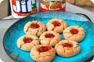 12 Days of Christmas Cookies: Peanut Butter and Jelly Thumbprints