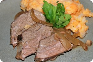 Crock Pot Apple-Scented Venison Roast