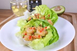 Sesame Shrimp Lettuce Wraps #EmileNoel #Giveaway