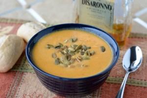 SRC: Amaretto-Kissed Butternut Squash Soup