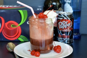 Grown-Up Cherry Vanilla Floats