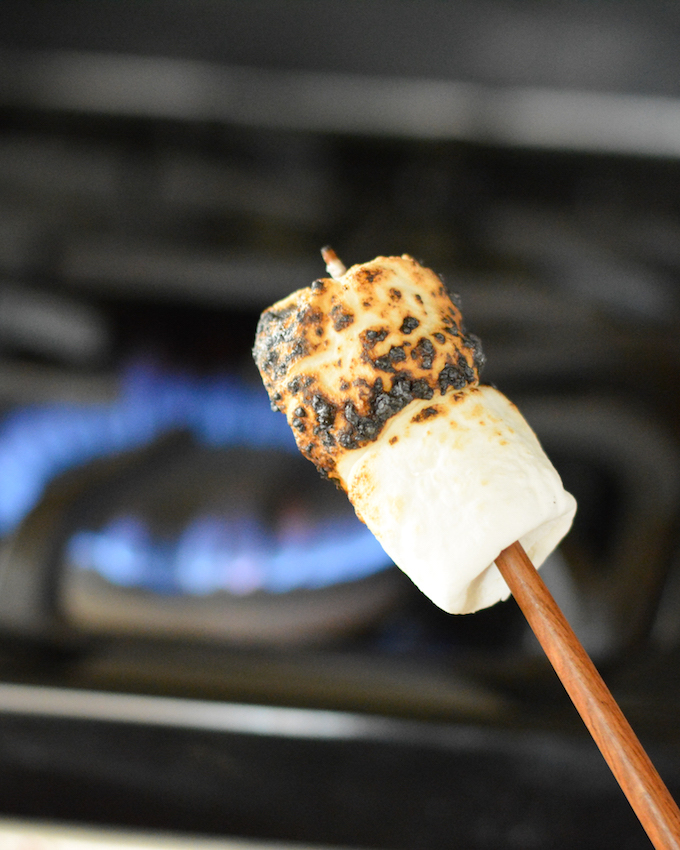 Salted Caramel Indoor S'mores | Flying on Jess Fuel