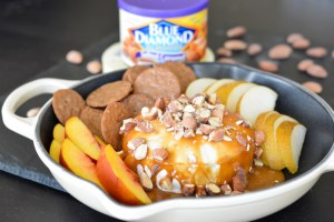 Salted Caramel Almond Baked Brie