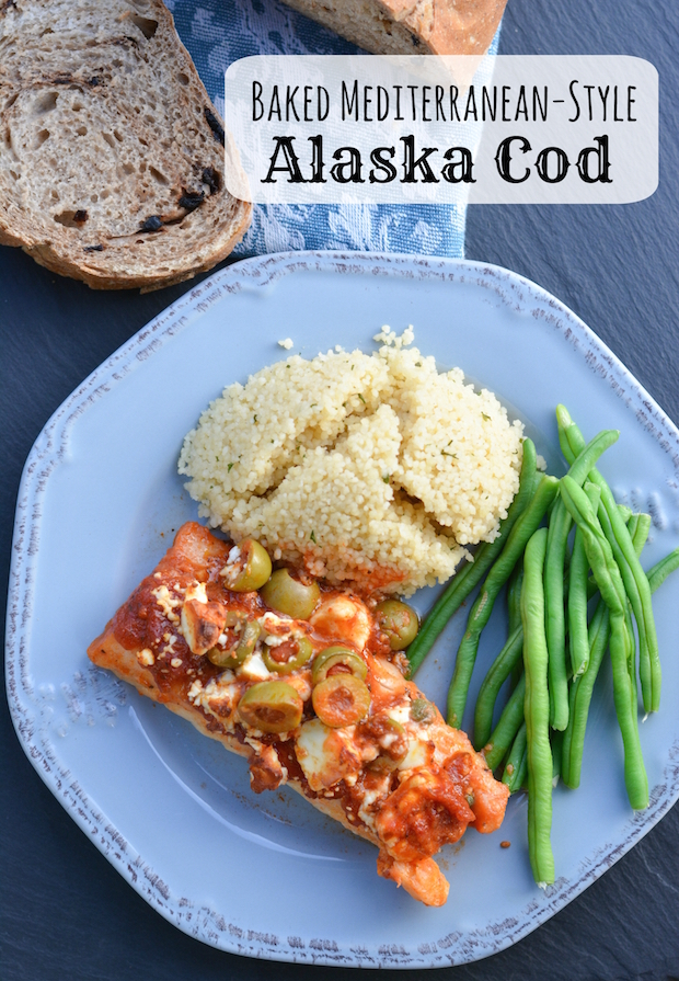 Baked mediterranean cod flying on jess fuel for Easy cod fish recipes