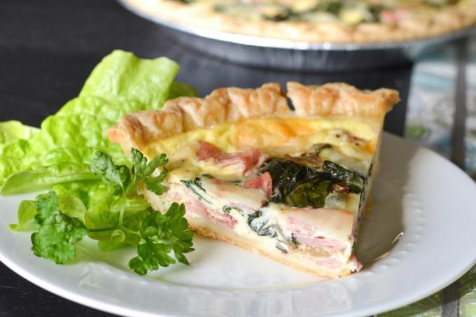 Greens, Eggs and Ham Quiche