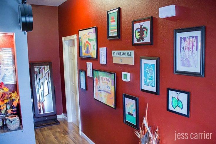 Children's School Art Gallery Wall