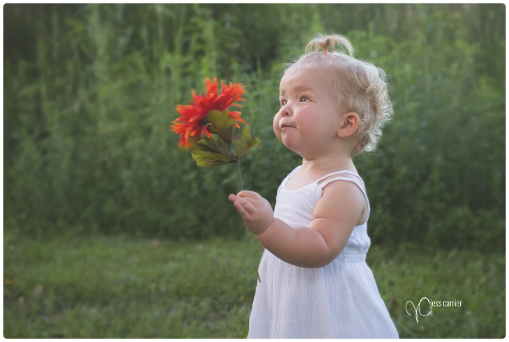 Baby With Flower Photograph