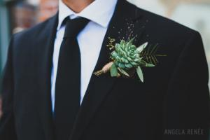 succulent boutonniere - Image by: Angela Renee Photography | http://jessicadum.com/portfolio/courtney-abe/